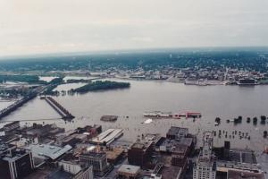 Illinois Moline Mississippi River View Great Flood Of 1993