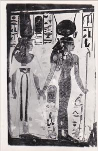 Isis Leading Queen to Beetle Heade God Khepre Tomb Of Nafertari Thebes Egypt ...