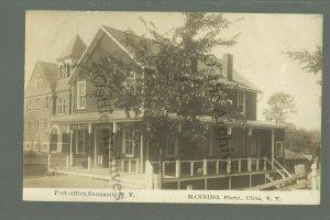 Sauquoit NEW YORK RPPC c1910 GENERAL STORE Post Office nr Utica Chandwicks