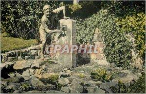 Postcard Modern Brussels Mons Mayeur Garden Fountain Ropieur
