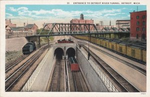 Michigan Detroit Entrance To Detroit River Tunnel Curteich sk739
