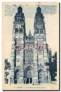 Old Postcard Tours Chathedrale the St. Galen
