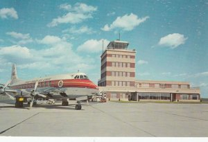 MONTREAL , Quebec, 50-60s Trans-Canada Airlines Viscount at airport