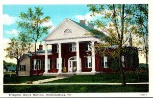 Virginia Fredericksburg Brompton Marye Mansion Curteich