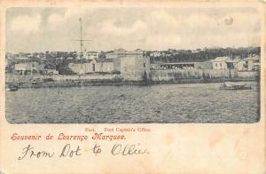 Mozambique Maputo Souvenir de Lourenco Marques Boat Panorama Postcard