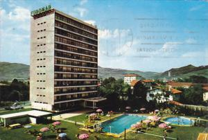 Spain Guipuzcoa Zarauz Hotel Euromar Swimming Pool Tennis Courts and Dnacing ...