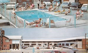 VIRGINIA BEACH, Virginia, 1950-1960's; Colonial Inn Motel, Swimming Pool