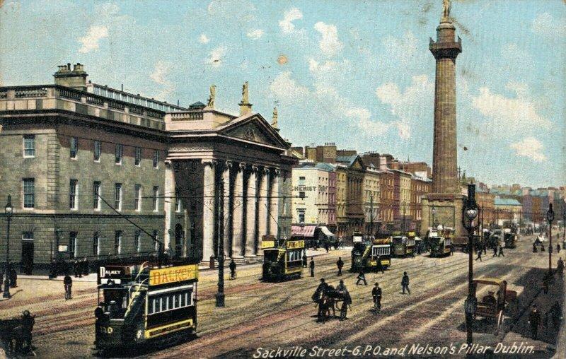 Uk Sackville Street 6 P.R.O and Nelson's Pillar Dublin 03.75