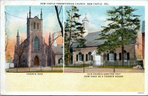 1915 New Castle Delaware Presbyterian Church 106543 Postcard DO