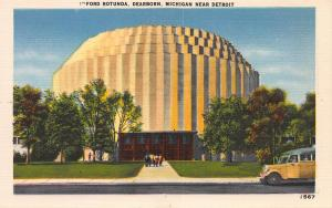 Ford Rotunda, Dearborn, Michigan, Near Detroit, Early Linen Postcard, Unused