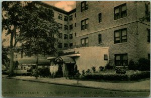 1940s East Orange, New Jersey Postcard HOTEL EAST ORANGE Street View Albertype