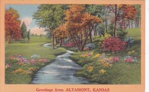Kansas Greetings From Altamont