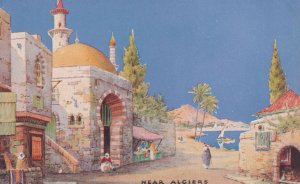 Near Algiers Tucks Charms Of The East Oilette Old Postcard