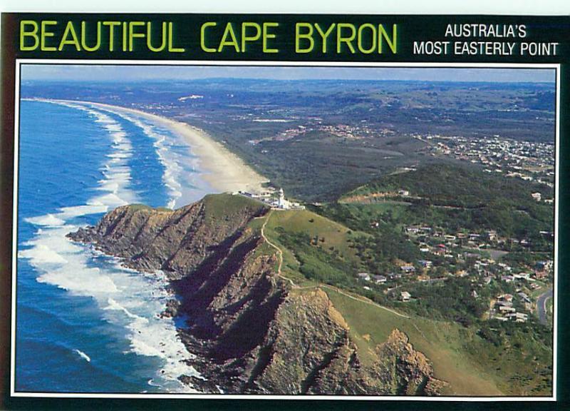 Cape Byron  NSW Australian Aerial Lighthouse East Coast   Postcard  # 6579