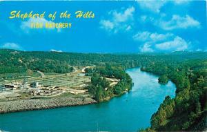 Shepherd of the Hills Fish Hatchery Branson Missouri MO Aerial View Postcard