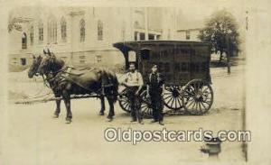 Des Moines Iowa, USA Distilled Water Ice, Real Photo Horse Drawn Advertising ...