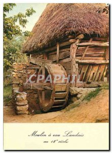 Postcard Modern water mill Landais 18th century