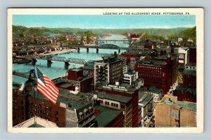 Pittsburgh PA, Bridges, Hardware, Merchandise, Vintage Pennsylvania Postcard
