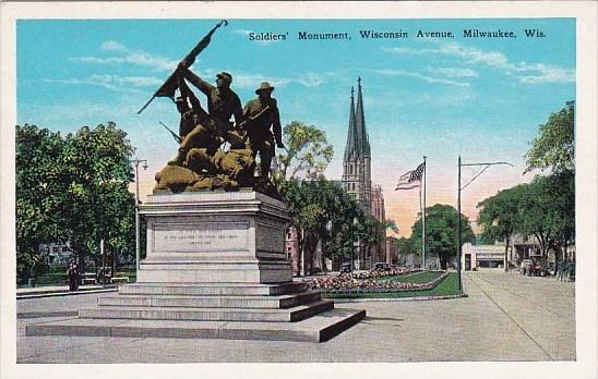 Soldiers Monument Wisconsin Avenue Milwaukee Wisconsin