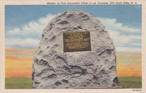 North Carolina Kill Devil Hills Marker Of First Successful Flight Of An Airpl...