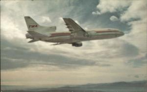 TWA Airplane in Flight L-1011 Airline Issued Postcard
