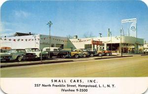 Hempstead L. I. Long Island NY Small Cars Inc. Volkswagen VW Dealership Postcard
