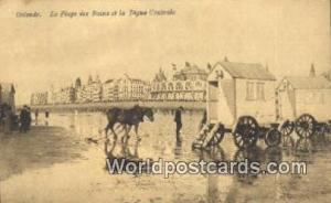 Ostende, France, Carte, Postcard la Plage des Bains et la Digue Centrale Oste...