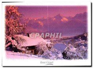Postcard Modern Image Mountain Facing the eternal snows