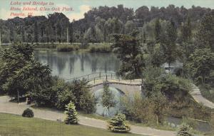 Lake on Bridge to Rose Island, Glen Oak Park, Peoria, Illinois, 00-10s