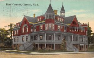 Centralia Washington~Hotel Centralia with Bar~Beautiful Victorian Building~1917
