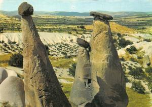 Turkey Urgup Civarinda Peri Bacalari Fairy Chemines Cappadocian Valley Postcard