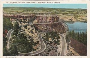 Oregon Loops Of Columbia River Highway At Rowena Heights Curteich