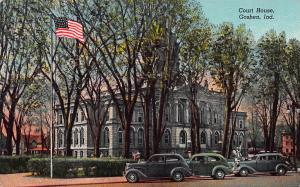 Court House, Goshen, Indiana, Early Postcard, Used in 1958