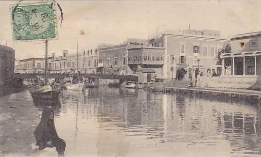Tunisia La Goulette Quai de la Douane 1909