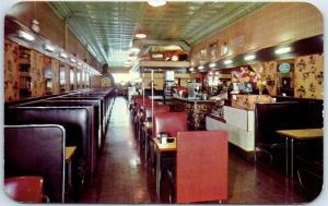Rochester MN Postcard THE SNACK SHOP Restaurant Diner Roadside Dexter c1950s