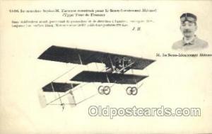 M. Le Sous-Lieutenant Menard Early Air Airplane Postcard Postcards  M. Le Sou...