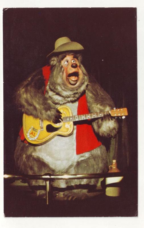 P293 JL old postcard disney world country bear jamboree