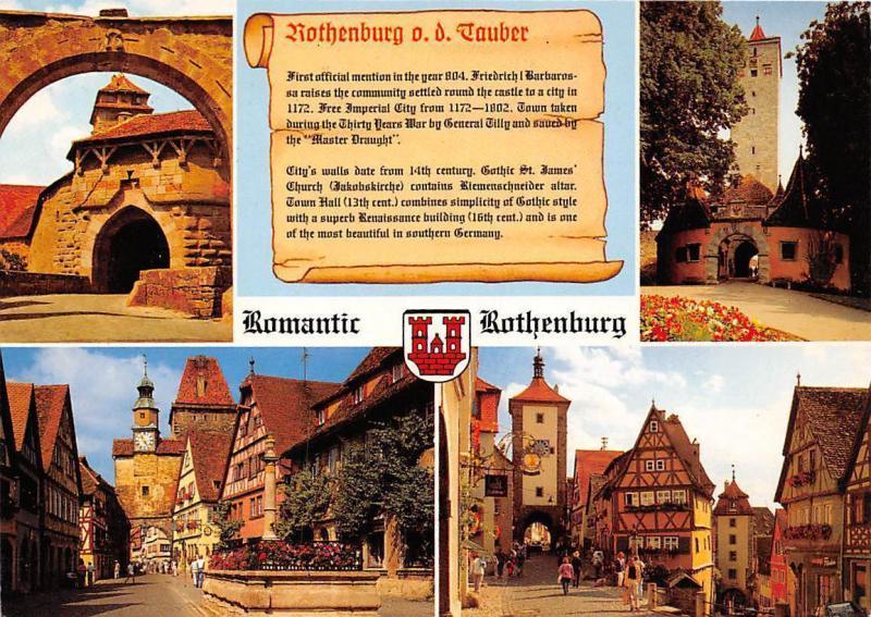 Romantic Rothenburg ob der Tauber, Ploenlein Strasse Tor Gate Promenade