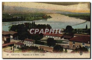 Valencia Old Postcard Panorama on the Rhone
