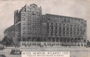 Hotel Morton, Atlantic City, Early Postcard, Used in 1936