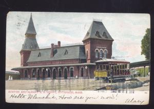 PITTSFIELD MASSACHUSETTS BOSTON AND ALBANY RAILROAD DEPOT