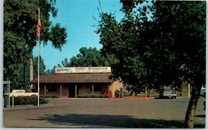 Fresno, California Postcard TOURIST INFORMATION CENTER Street View c1950s