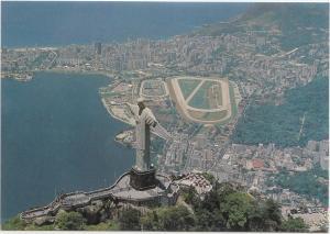 Rio de Janeiro, Brasil, Brazil, Aerial view of Corcovado, unused Postcard