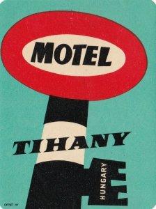 Hungary Tihany Motel Tihany Vintage Luggage Label sk3682