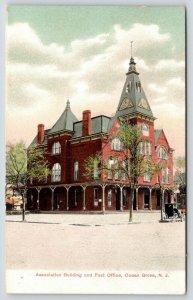 Ocean Grove New Jersey~Association Building~Post Office~Clock Tower~Porch~1905
