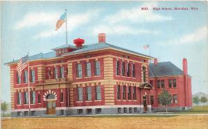D67/ Sheridan Wyoming Wy Postcard c1910 High School Building
