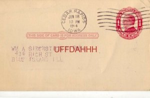 1914 MUTUAL BENEFIT DEPT Railway Conductors of America for J W DALLAS C U LELAND