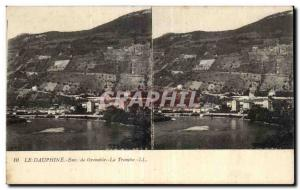 Stereoscopic Card - The Dauphine - Grenoble - La Tronche - Old Postcard
