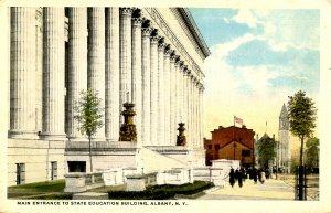 NY - Albany. State Education Building, Main Entrance