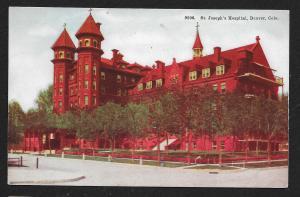 St Josephs Hospital Denver Colorado Unused c1910s